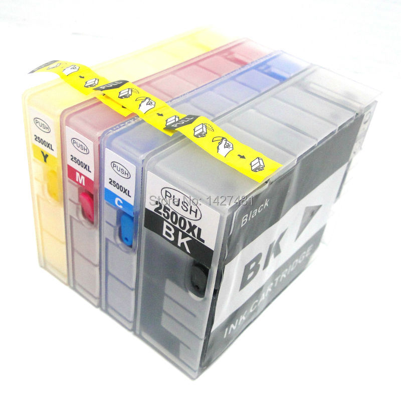 ФОТО New full pigment ink pgi 2500 refill ink cartridge for canon MAXIFY MB4050 MB5050 MB5350 with arc chips