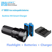 IMALENT DT35 8500LM 4 * Cree XHP35 Здравствуйте светодио дный 1000 м светодио дный фонарик с 4*18650 3000 мАч батареи + Sos Здравствуйте ne H4 Smart Зарядное устройство