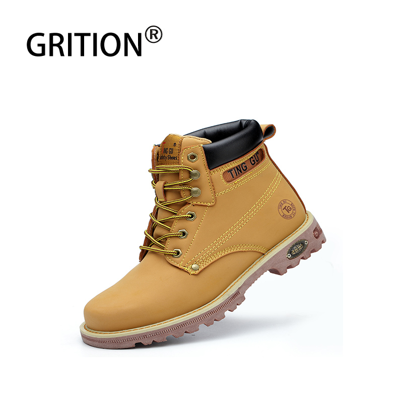 GRITION Waterproof Hiking Shoes Winter Sneakers For Men Outdoor Mountain Climbing Shoes Tactical Boots Hiking Shoes Men