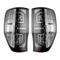 1Pair for Ford Ranger PX T6 MK2 XL XLT XLS Wildtrak AT Rear Tail Lights Lamp Smoked LED Making Installation Breeze Match Factory