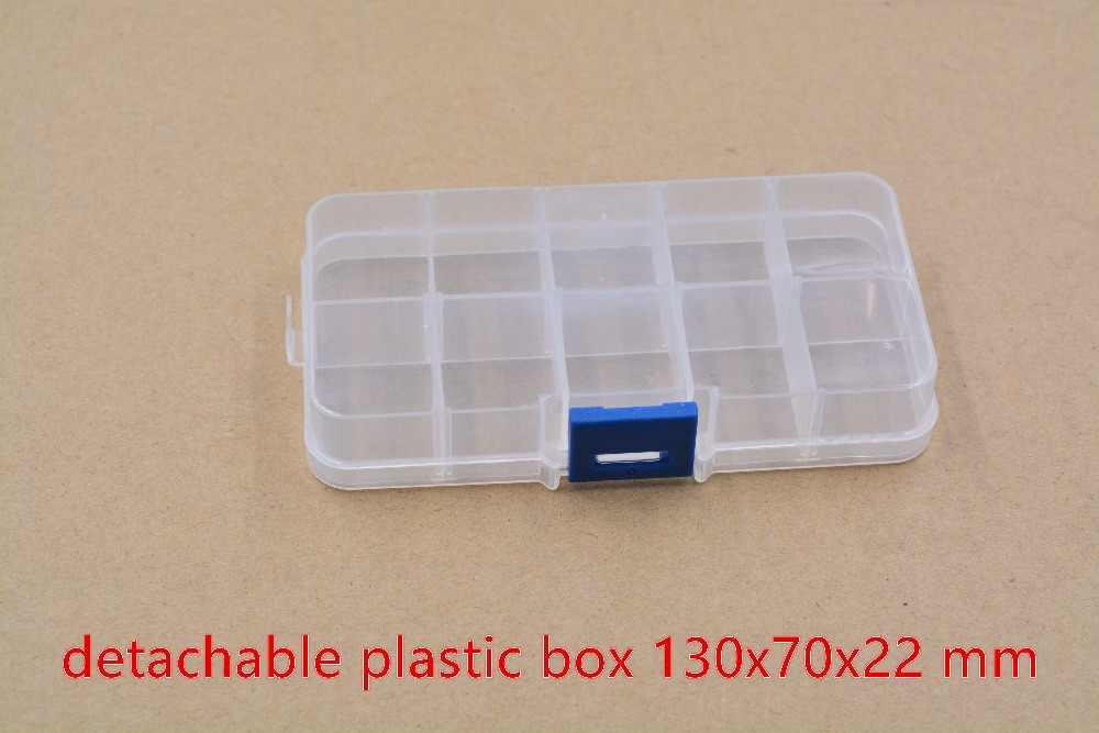 1 stücke komponente box elektronische IC chip SMT schraube zehn gitter lagerung werkzeug blau taste 130mm x 70mm x 22mm