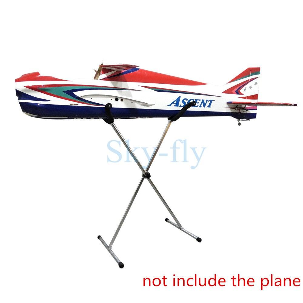 Oyuncaklar ve Hobi Ürünleri'ten Parçalar ve Aksesuarlar'de Gökyüzü Uçmak için Sabit Kanat RC Uçak/RC Jetleri Model Katlanabilir metal standı Gösteren stand braketi'da  Grup 1