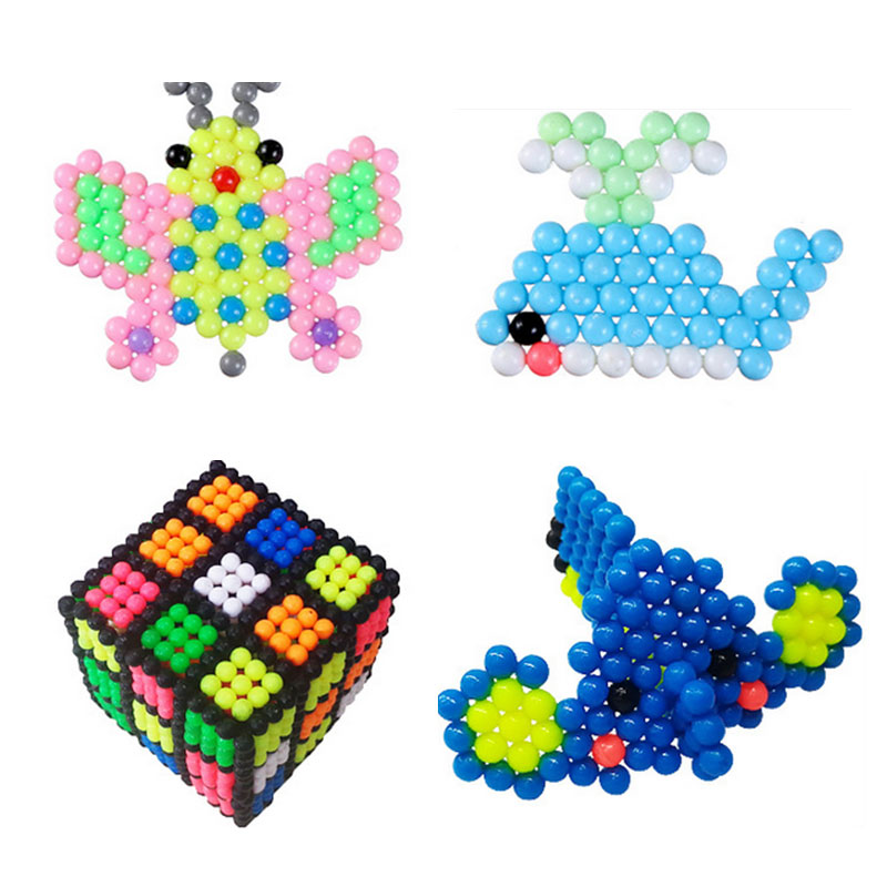 3000PSC Water Beadbond Aqua Beads Jouets Perler Beads Toys Pegboard Hama Pixels Magic Beads Jigsaw Kid Puzzle Educational Toys
