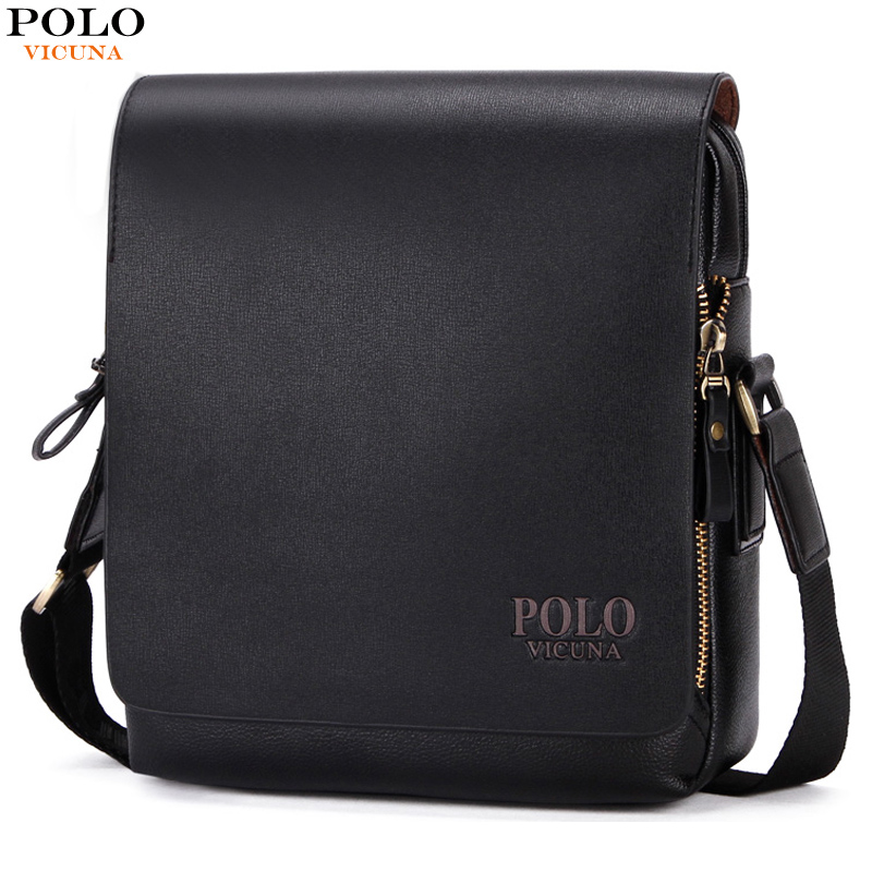 VICUNA POLO Promotion Casual Business Mens Messenger Bag With Card Pocket Inside Luxury Brand Man Bag Mens Shoulder Bag Hot Sell vicuna polo new arrival brand business men s shoulder bag square design casual men bag promotion leisure messenger bag top sell