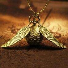 Новый Харри Поттер косплэй золотые крылья снитч игрушечные часы кварцевые карманные часы цепочки и ожерелья Quidditch шары снитч ожерелье игрушки забавные