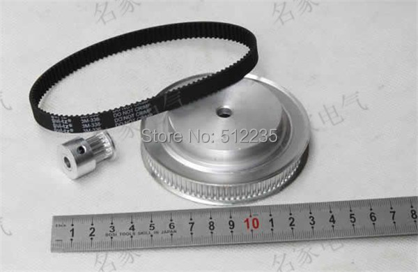 Timing belt pulleys/Synchronous belt , synchronous pulley, the suite of Synchronous belt 5M(4:1) adroit new 1800prm 120mm 120x25mm 12v 4pin dc brushless pc computer case cooling fan jul26 drop shipping