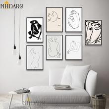 Matisse Picasso colección de bocetos Vintage Vogue moda carteles e impresiones lienzo pintura cuadros artísticos de pared para la decoración del hogar