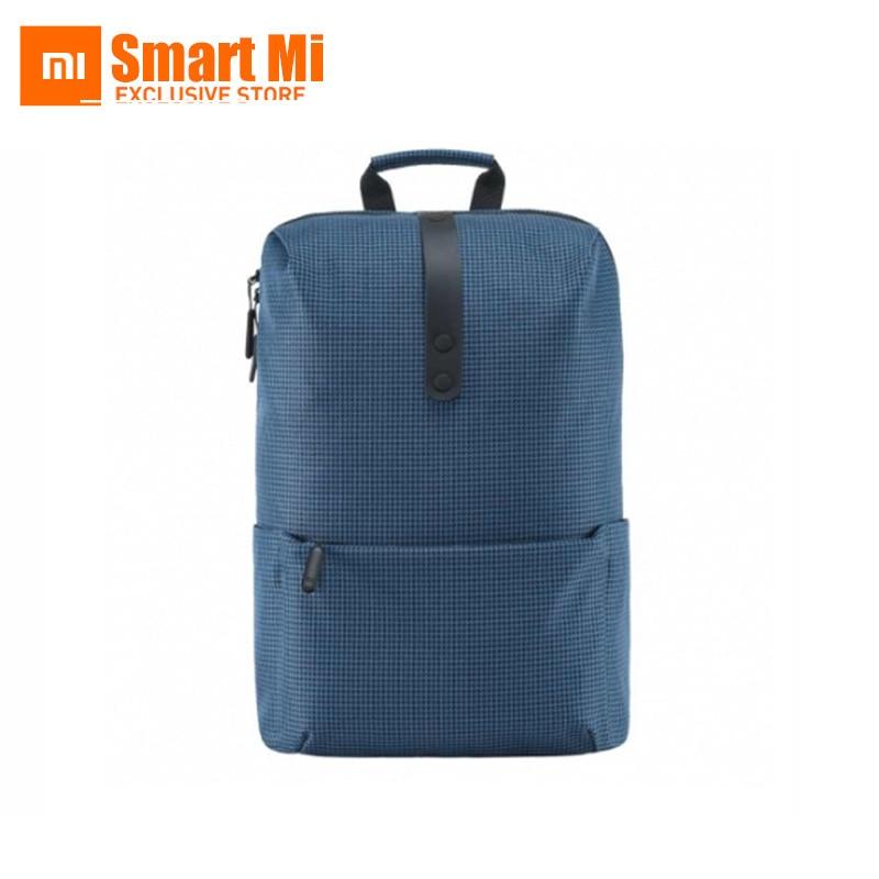 100% оригинален Xiaomi мода училище раница 600D полиестер здрав водоустойчив костюм за 15.6 инчов лаптоп компютър