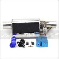 Car Valve Exhaust Pipe Vacuum Pump Variable Mufflers Stainless Steel Universal ID 51mm 63mm 76mm Flat Remote Control muffler
