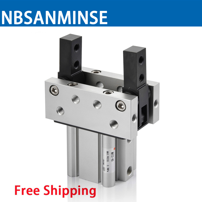 Pneumatic Toggle Type Air Gripper Cylinder MHT2 SMC Type Compress Air Pneumatic Parts 0.1 to 0.6 MPa High Quality Sanmin high quality double acting pneumatic robot gripper air cylinder mhc2 25d smc type angular style aluminium clamps