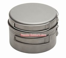 Free Shipping 1 2 Person Camping Pot Titanium pot Outdoor Pots Sets only 218g FMC DP1