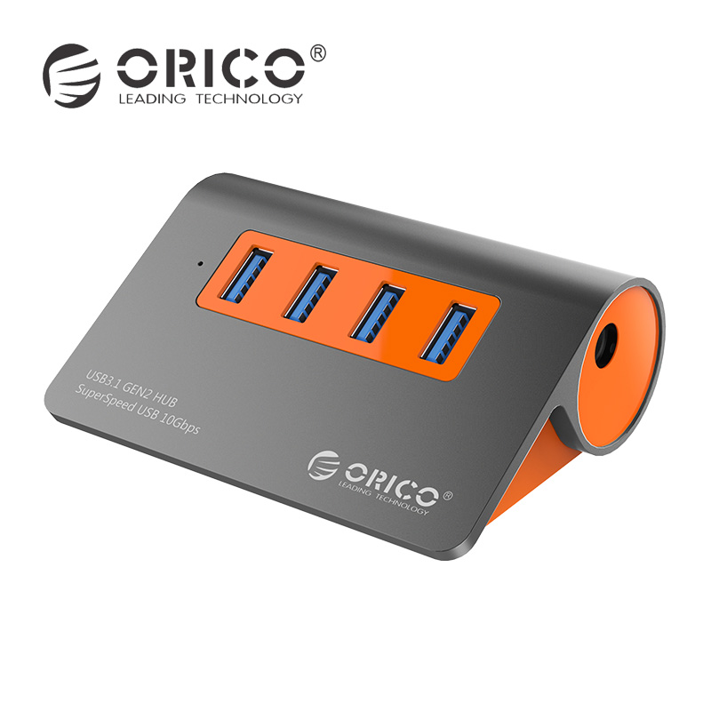 ORICO Aluminum 4 Ports USB 3.1 Hub 10Gbps Data Transmission USB Splitter for laptop accessories with 1m data cable EU adapter