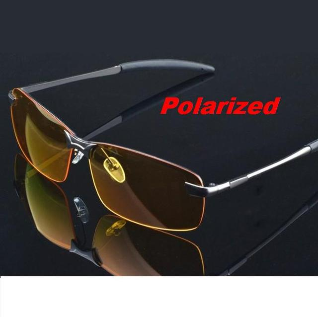 201d9afee28 M4 Glasses Men Polarized Driving Sunglasses Yellow Lense Night Vision  Driving Glasses Polaroid Goggles Reduce Glare + Bag