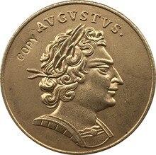 24 K pozłacane polska 1709 moneta kopia 24.5mm