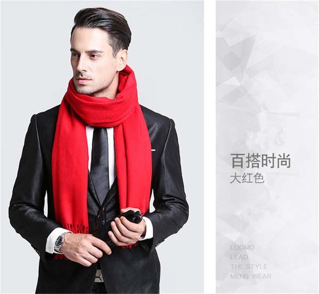f6872c5cde5 placeholder Элегантный серый мужской шарф Зимний искусственный кашемир  мужские шарфы черный темно-синий мужские шарфы классический