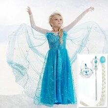 25da5395e Navidad niñas Elsa vestido princesa Anna vestidos de fiesta Cosplay verano  bebé niños moda vestidos ropa del bebé del gatito