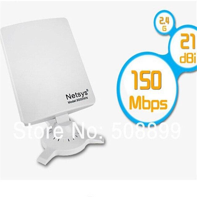 Netsys 9000wn clipper b/g/n usb 98dbi wifi adaptador receptor placa de rede sem fio receptor wi-fi de alta potência para pc computador novo