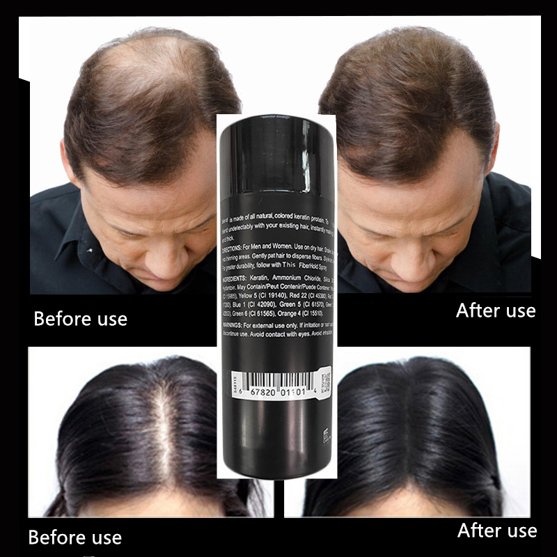 Wig Spray Hair-Loss-Products Hair-Fibers Regrowth-Powders Keratin Thickening Black Instantly