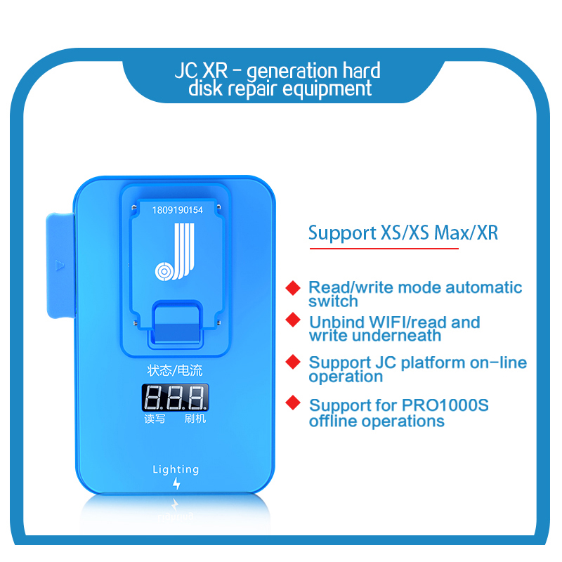 JC Pro1000S Multi-Function HDD NAND Programmer JC XR 8 Generation P7 NAND Read Write Error Remove For IPhone X XR XS Max IPad
