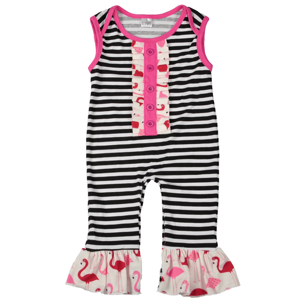 New Arrival Newborn Rompers Toddler Baby Girl Striped Jumpersuit Rompers Cotton Outfits Clothes 0-24M Clothing GPF712-010