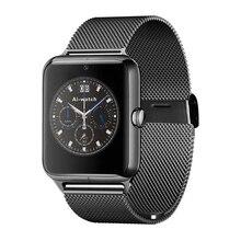 Bluetooth 4.0 nfc smart watch teléfono celular gsm de la tarjeta sim rastreador de ejercicios con tarjeta de 32g tf para ios/android smartphone