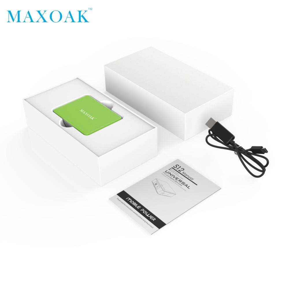 MAXOAK taşınabilir güç bankası Tek USB DC 5 V-2.1A 5200 mAh - Cep Telefonu Yedek Parça ve Aksesuarları - Fotoğraf 5