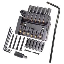 Tooyful Set of 6 String Roller saddle Tremolo Bridge Tailpiece for Headless Electric Guitar Parts(China)