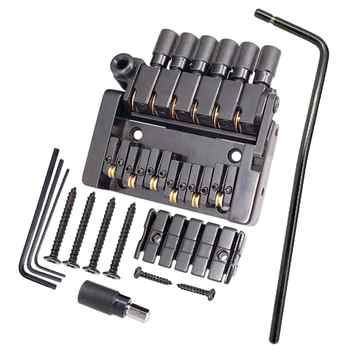 Tooyful Set of 6 String Roller saddle Tremolo Bridge Tailpiece for Headless Electric Guitar Parts - DISCOUNT ITEM  45 OFF Sports & Entertainment