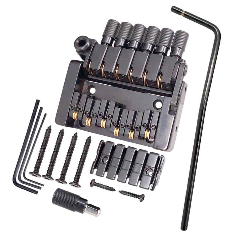 Tooyful lot de 6 cordier rouleau selle tréolo pont pour pièces de guitare électrique sans tête
