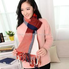New Winter colorful Plaid scarf for women fashion shawls cashmere Tartan scarves