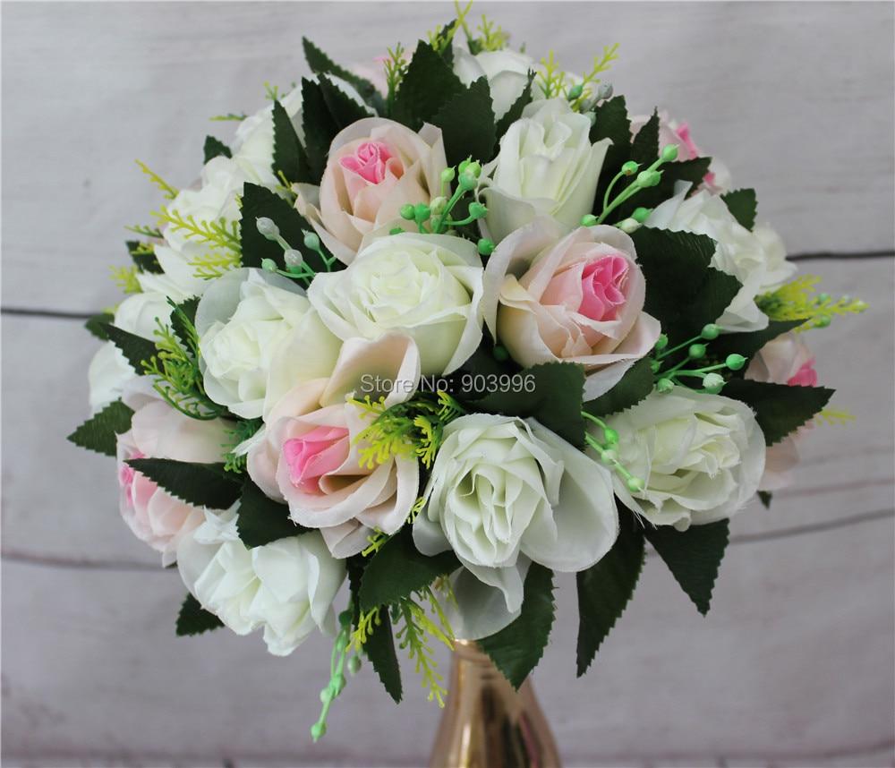 SPR 25CM New !! 결혼식 도로 리드 꽃 장미 꽃 촛대 테이블 중앙 장식 꽃 decoratio 무료 배송