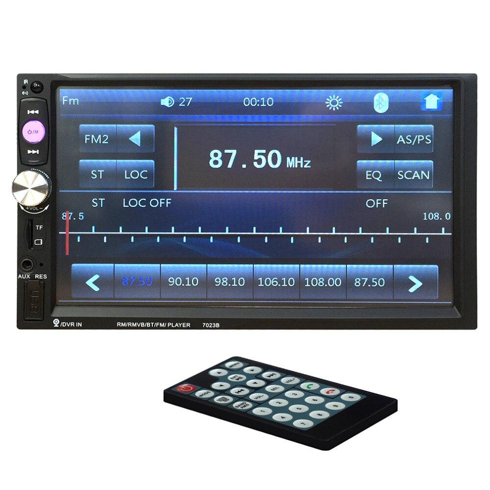 Leshp más nuevo doble DIN auto DVD 7 pulgadas Touch scrren Radios reproductor Bluetooth vista trasera de entrada de cámara 12 V Venta caliente