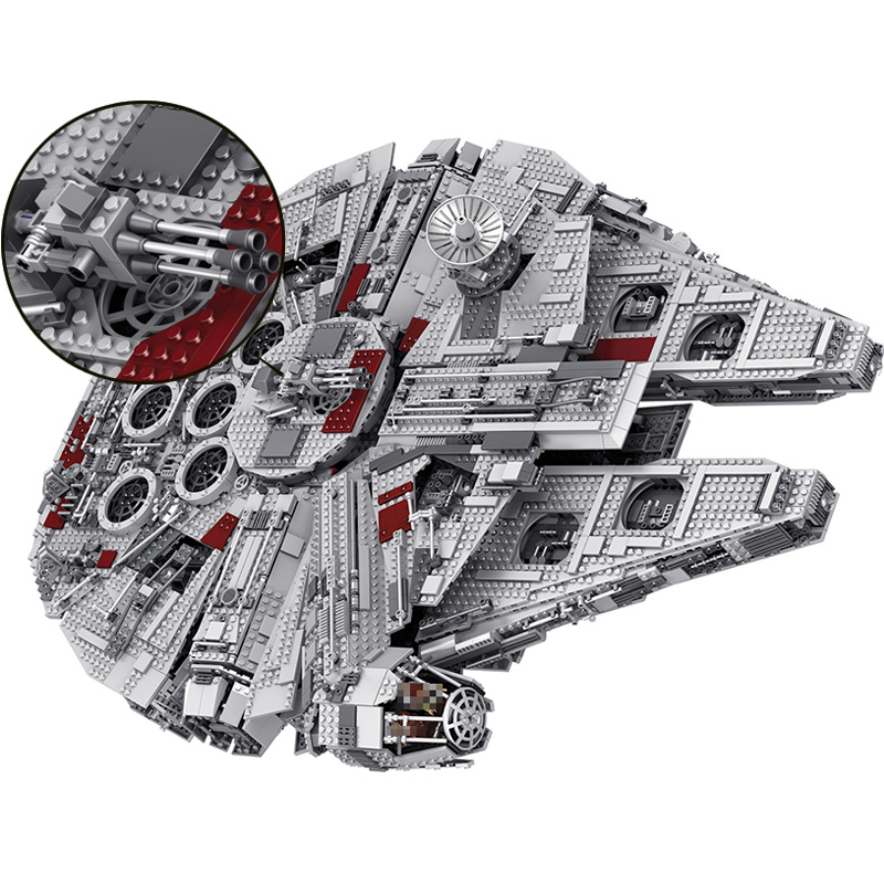 05033 In stock Star Destroyer Millennium Falcon Model Building Block Bricks Toys 5265Pcs Compatible with Legoings Star Wars
