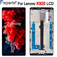 For 6.0 Inch 2560*1440 Lenovo K920 Vibe Z2 Pro LCD Display Touch Screen Digitizer Assembly +Frame For Lenovo K920 Vibe Z2 Pro original new 14 0 inch led lcd screen fit vvx14t058j10 2560 1440 for lenovo thinkpad t460s t460p