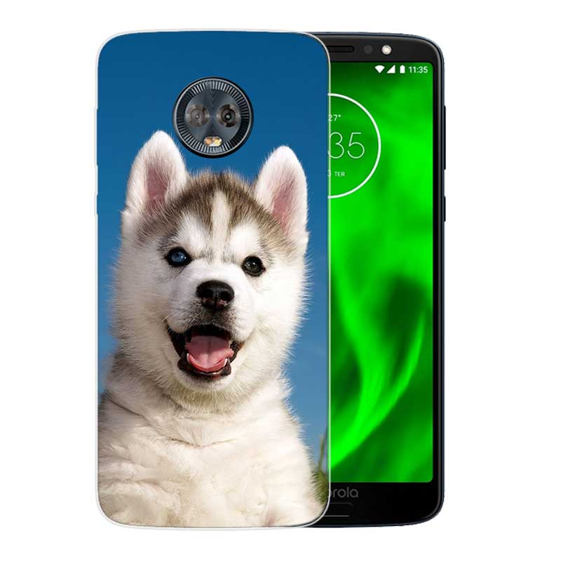 Cute Husky Silicone Hull Shell Back Case For Motorola MOTO G5 G5S G6 E4 E5 Plus G4 Play X4 Riverdale Cover Coque in Fitted Cases from Cellphones Telecommunications
