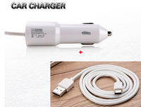 2 1A Type B USB Mobile Phone Car Charger Lighter Type C USB Cable For Samsung