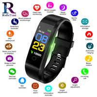 Degli uomini di Orologi Smart Impermeabile Inseguitore di Fitness Sport Wristband Contapassi Frequenza Cardiaca di Sport Delle Donne Del Braccialetto Intelligente per IOS Android