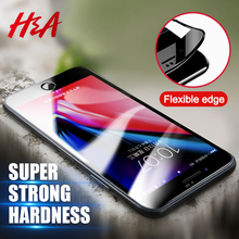H&A 3D Curved Tempered Glass For iPhone X 6 6s 7 Plus 8 8 Plus Screen Protector Film Full Cover Protector For iPhone 7 8 6 Glass