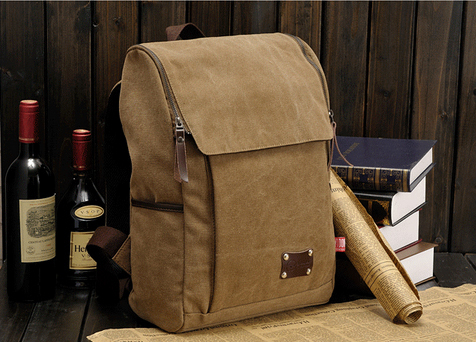цены  High Quality Men's Backpacks men solid zipper cover vintage canvas backpack bag mochilas masculinas rucksack bagpack school bags