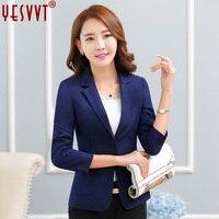 Yesvvt 2017 Fashion Women Blazers Office Lady Suits White Blazer Women Leisure Coat 4 Color Cotton