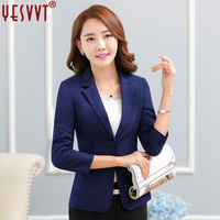 Yesvvt 2017 Fashion Women Blazers Office Lady Suits White Blazer Women Leisure Coat 4 Color Cotton