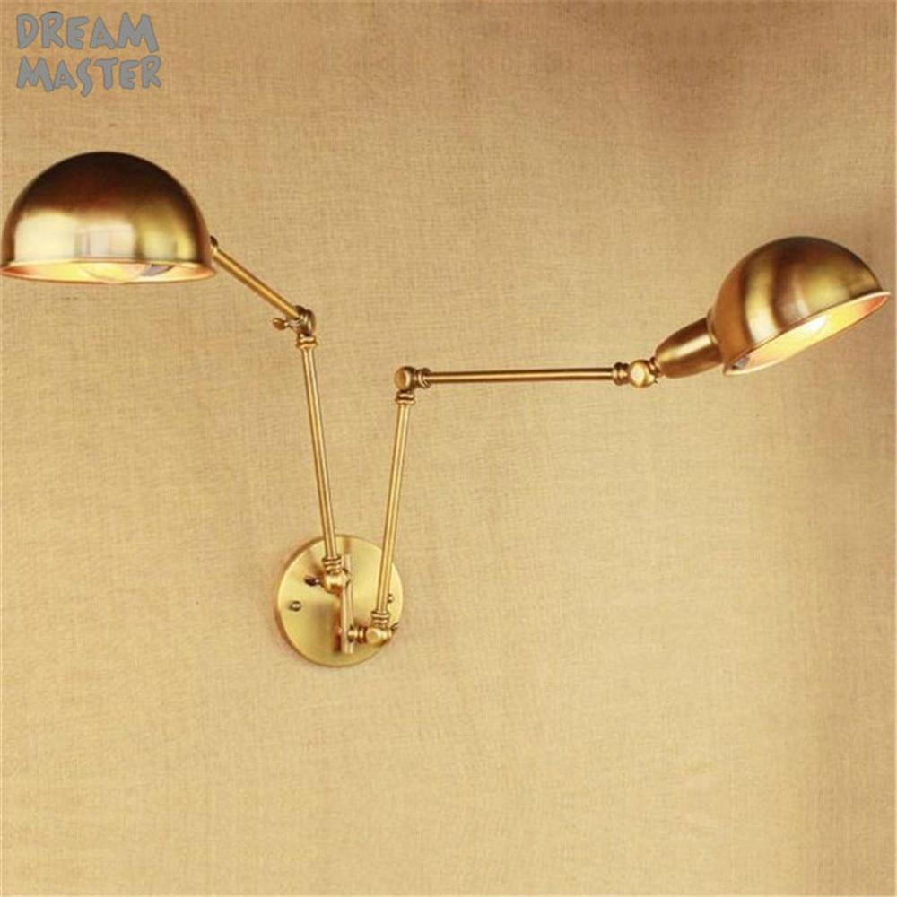 Купить железные настенные светильники в стиле ретро с позолоченными