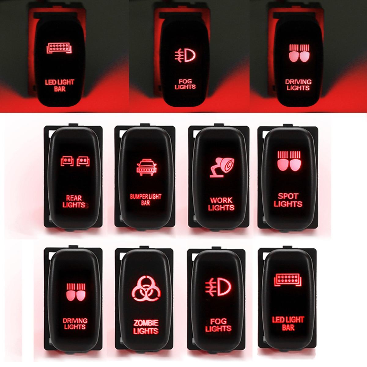 12 v Voiture Push Interrupteur Brouillard Interrupteur de Lumière Spot Travail Conduite Zombie Arrière Lumières Interrupteur Bouton pour Mitsubishi Pajero Triton MQ