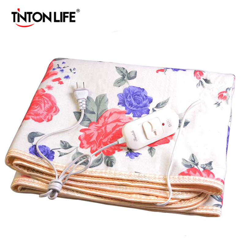TINTON LIFE Winter Electric Blankets 150*120cm Warm Pad For Bed Heating Electric Blanket arnigu leaves printed winter bedding throw or quilt double face raschel blankets big size thick blanket warm bed sheet 200x230cm