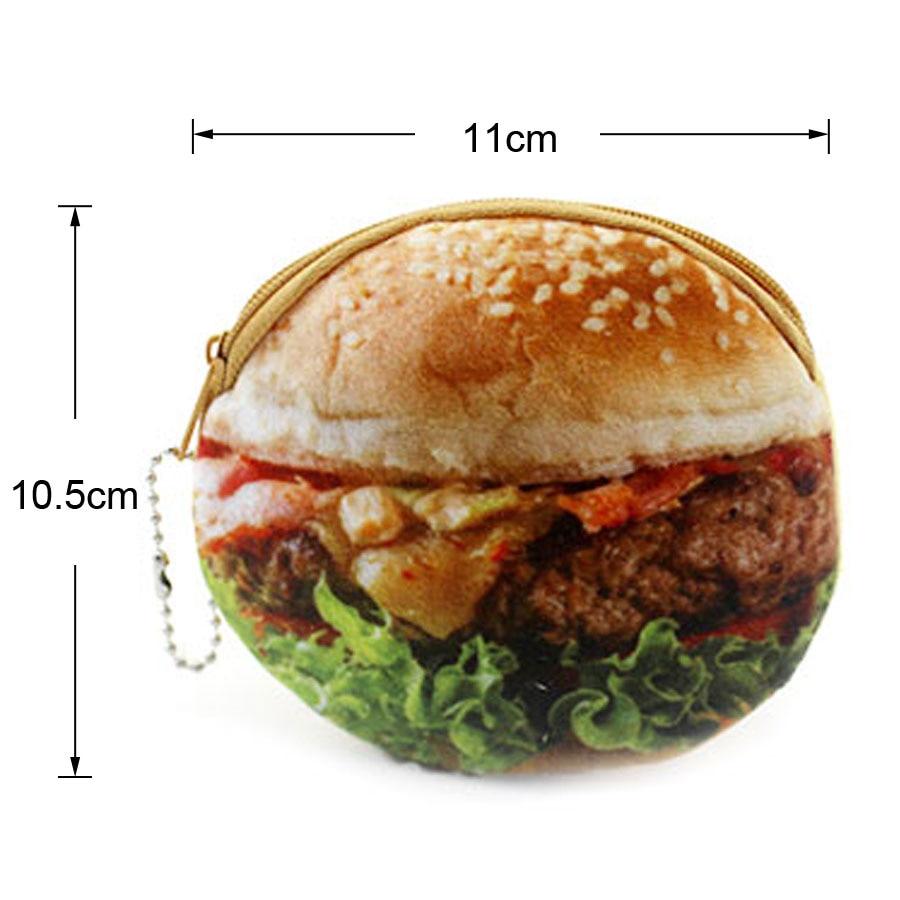 XYDYY Kawaii Söt Hamburger Stekt Ägg Kvinnor Barn Plysch Mynt - Plånböcker - Foto 2