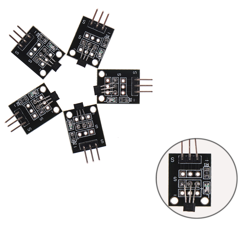 5pcs ky 003 a3144 standard hall magnetic sensor module works for arduino boards dc 5v