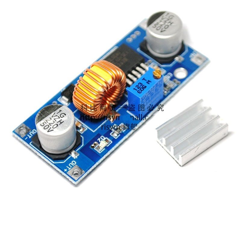 1PCS 5A XL4015 DC-DC adjustable step-down module 4~38V 96% dc dc automatic step up down boost buck converter module 5 32v to 1 25 20v 5a continuous adjustable output voltage