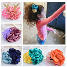 Pretty Flower Elastic Hair Tie Hairband Rubber Band Ponytail Holder Floral headwear hair accessories H24