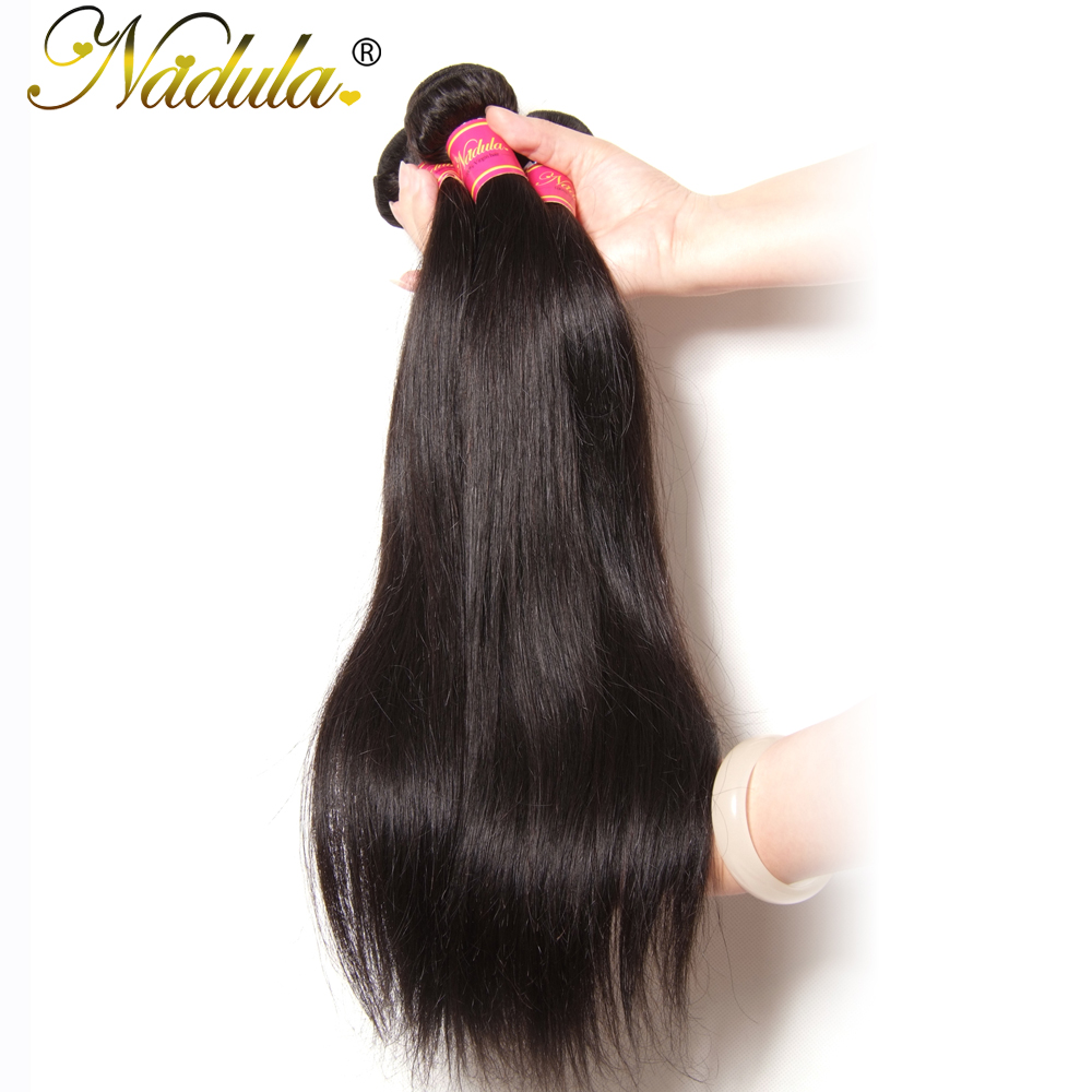 Nadula Hair Peruvian Straight Hair Weaves 3pcs Hair Bundles Machine Double Weft 100 Human Remy Hair