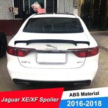 цена на JNCFORURC Rear Trunk Lid Car Spoilers Wings For Jaguar XE XF 2016 2018 ABS Plastic Black Carbon Color Spoiler Window Louvers XF